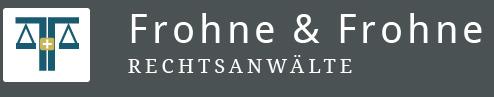 Kanzlei Frohne & Frohne Logo Schriftzug